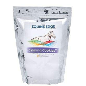 T.H.E. Equine Edge Calming Cookies, Resealable Bag of 30 Cookies by The Equine Edge