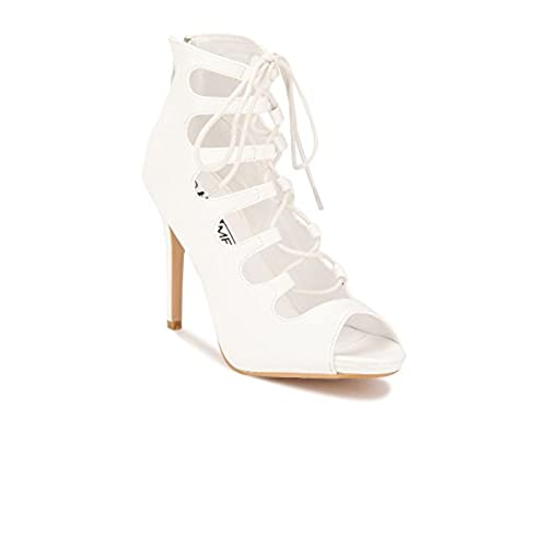 a5ff396cea1 Yepme White Tie Up Stilettos Pumps hot sale - holmedalblikk.no