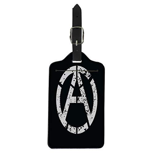 Tinmun Luggage Tag Atheist Anarchy Atheism Socialist Logotype Communism Defiance Nihilism Punk Suitcase Baggage Label Travel Tag Labels