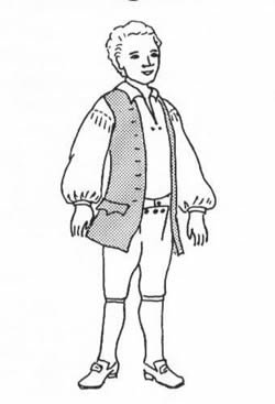 1770's Waistcoat and Shirt Pattern (Size Medium Chest: (Colonial Costumes Patterns Children)