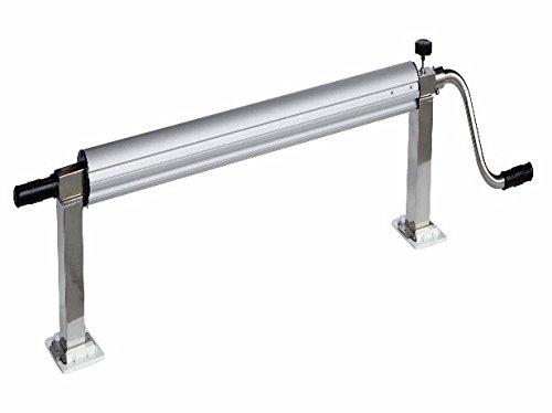 International Pool Protection Enrouleur télescopique en acier inoxydable avec manivelle pour piscines jusqu'à 5, 5 m de large Tube de 82 mm de diamètre