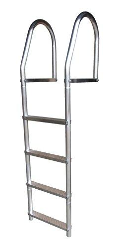 (Dock Edge ECO Weld Free Fixed Dock Ladder, 4 Steps, Aluminum)
