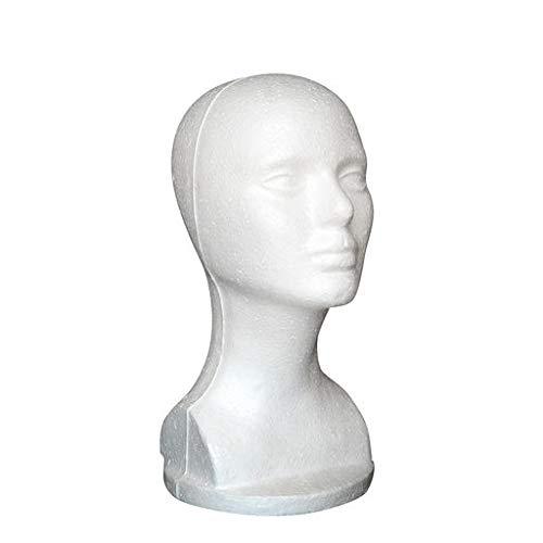Expxon Estuche Femenino de Espuma de poliestireno Gafas Peluca de Pelo Maniquí Soporte de Pantalla Modelo de Cabeza Cofre