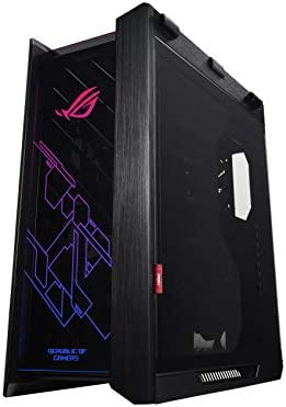 Asus ROG Strix Helios Black Edition RGB ATX/EATX mid-tower gaming case with handle, tempered glass, aluminum frame, GPU braces, 420mm radiator support and Aura Sync: Buy Online at Best Price in UAE -