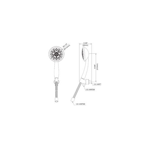 "low-cost Danze DH131130 Tru 2.5 GPM Multi-Function Hand Shower Package with 72"" Hose, Sho, Brushed Nickel"