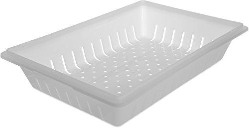 Carlisle 1064802 StorPlus Polyethylene Colander, 5'' x 18'' x 26'', White (Case of 6) by Carlisle