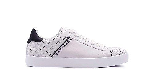 Navigare Uomo Pelle Uomo Sneakers Navigare Navigare Pelle Sneakers Bianco Bianco q1nFvxqwt