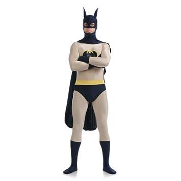 Batman traje SuperSkin, capa y máscara - adulto Unisex ...