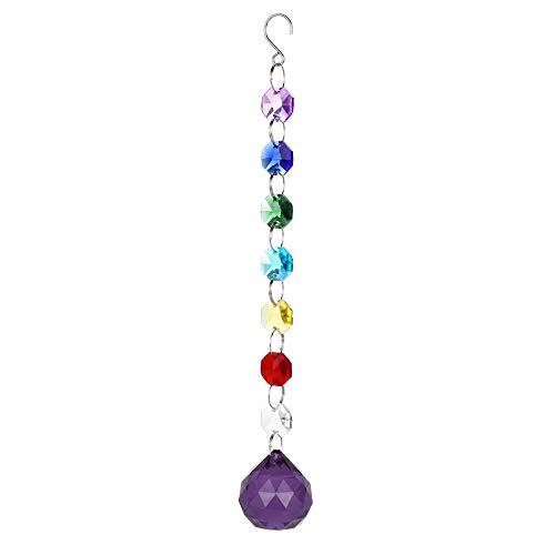 Clearance Sale!UMFun Crystal DIY Bohemian Clear Crystal Ball Prisms Pendant Hanging Wedding Decor Gift (B)