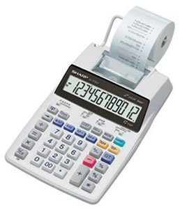 SHREL1750V - Sharp EL-1750V 12 Digit Printing Calculator