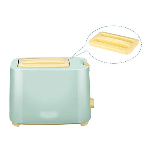 Compact Fast Breadmaker, Household Effective Automatic Toaster Toaster Driver Spit Home 2 Pieces of Green Automatic 2-3, Double Mixing Blade Blue