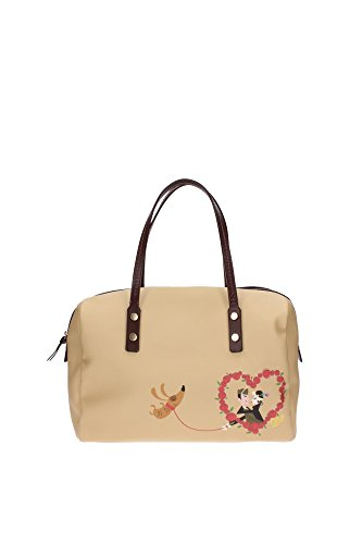 Bowling Bags Dsquared2 Women Fabric Beige and Brown W13HD2032V3585130 Beige 16x22x31 cm