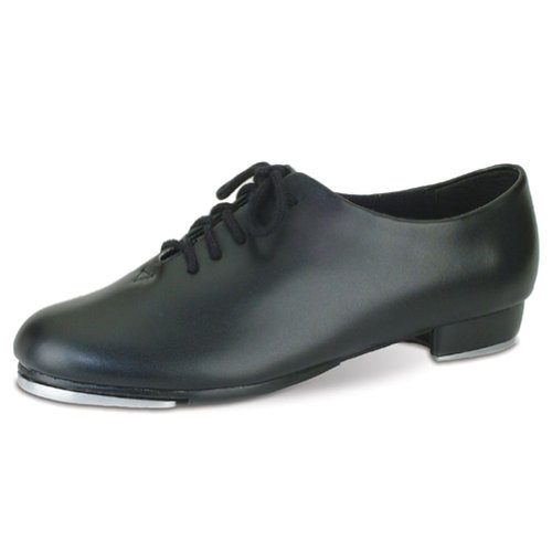 Danshuz Womens Black Oxford Lace Up Tap Dance Shoes Size 5.5 Black Leather Tap Oxford