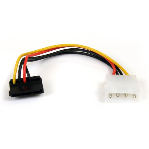 StarTech.com SATAPOWADAPR 6-Inch 4 Pin Molex to Right Angle SATA Power Cable Adapter Angle Pins