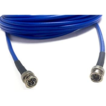 150 Foot HD-SDI 3G RG6 BNC to BNC Video Coaxial Cable (75 Ohm) Blue 4.5Ghz Made in the USA by Custom Cable Connection