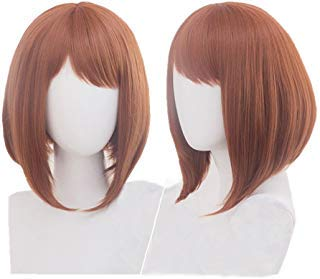 Cosplay Wig Heat Resistant Short Brown Anime Party Wig -