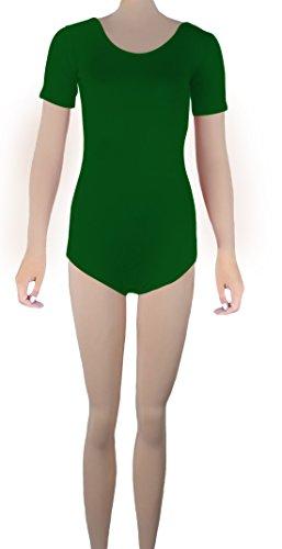 Howriis Lycra manica corta Backless Body Dancewear tanga Green
