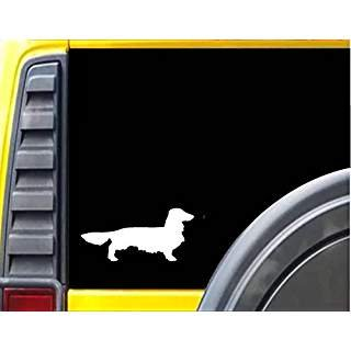Longhaired Dachshund Silhouette 5.5