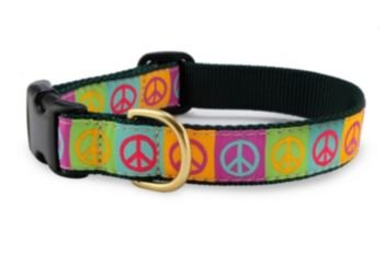 Up Country Peace Dog Collar X-Small