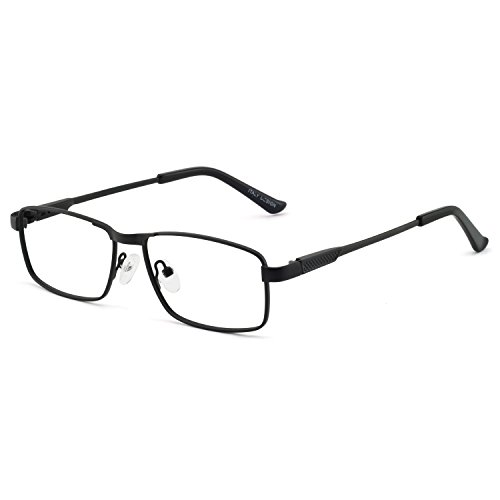 OCCI CHIARI Optical Metal Eyewear Non-prescription Eyeglasses Frame with Clear Lenses For Mens(Black 52mm) -