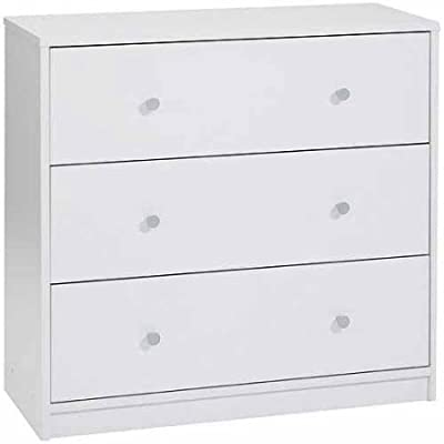 Modern and Elegant Style 3-Drawer Dresser Eco-Friendly (3-Drawer, White) -  - dressers-bedroom-furniture, bedroom-furniture, bedroom - 31lFSyE%2BjrL. SS400  -
