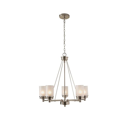 Hampton Bay 5-Light Brushed Nickel (Bay Five Light Chandelier)