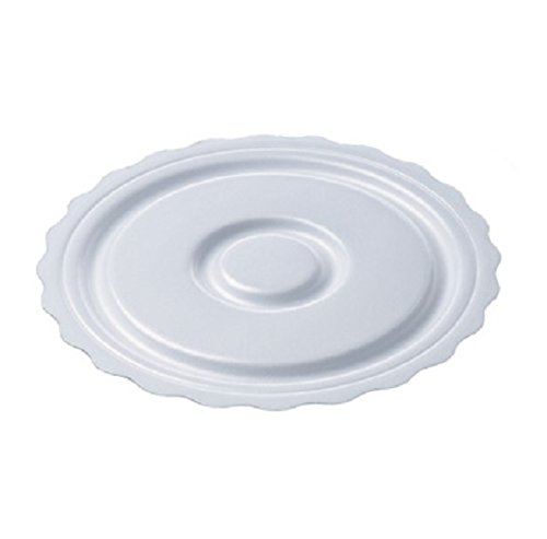 Foam Cake Circle - SafePro 8CCF, 8.25-Inch White Round Foam Cake Pie Pads, Plastic Thick Non Grease Proof Cake Circles Trays (100)