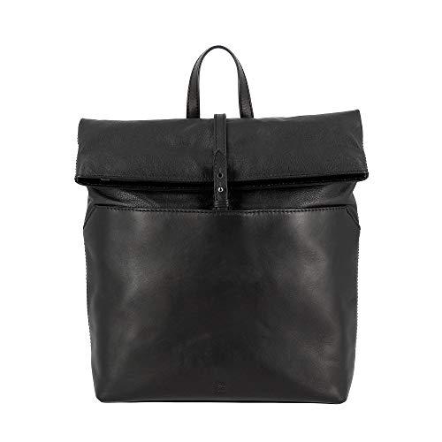 Grand Sac Véritable Zip Avec Élégant Cuir Femme Et Dos Mode En Dudu Fermeture Souple La Pour Espace À Noir a0wpqd