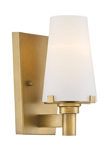 Designers Fountain 87901-VTG Hyde Park 1 Light Wall Sconce, Vintage Gold