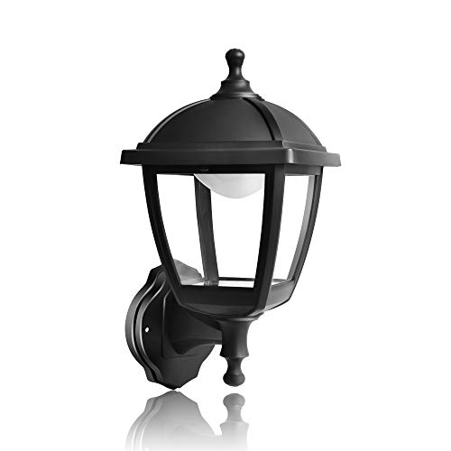 - FUDESY Transitional Style LED Outdoor Wall Lantern with 10W 28 Lifetime LED Chips, Black Polypropylene Plastic Porch Lamp with Clear Acrylic Lenses, Waterproof Porch Light Fixtures,P416-LED