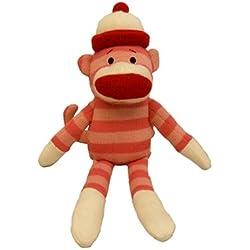 """Lulubelles - 14"""" Parker Sock Monkey- Pink"""