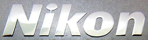 Nikon Metal Sticker / Emblem / Badge 7.5 x 29mm - Stickers Metal Scrap