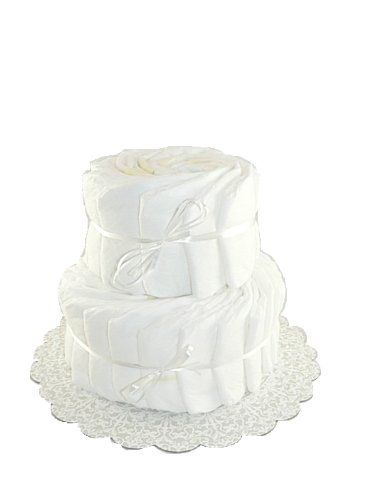 (Decorate It Yourself 2 Tier Plain Diaper Cake-32 Diapers)