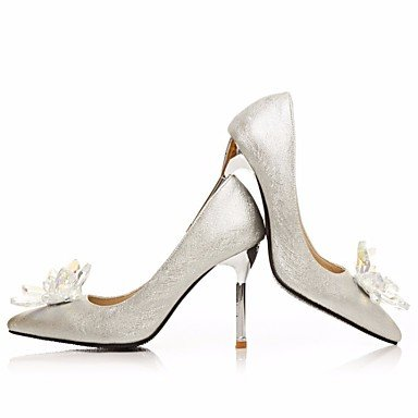 Femme Plat LvYuan Talons sliver Chaussures Argent Printemps Polyuréthane ggx à 55qrA8w