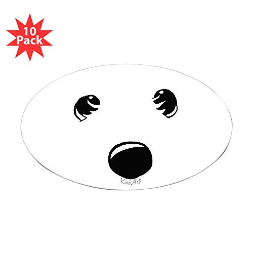 CafePress - Westie Face Oval Sticker (10 Pk) - Oval Sticker (10-Pack), Bumper Sticker, Car Decal, Euro Oval