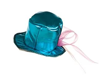 Rubie's Costume Womens Mini Metallic Top Hat, Blue, One Size