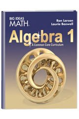 Big Ideas Math Algebra 1  Common Core Student Edition 2015