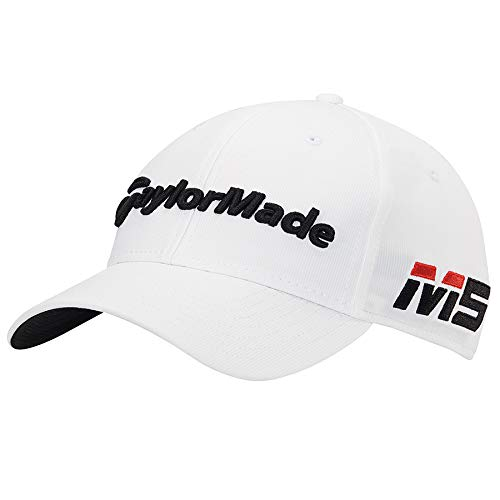 TaylorMade 2019 Tour Radar Hat, White, Adjustable