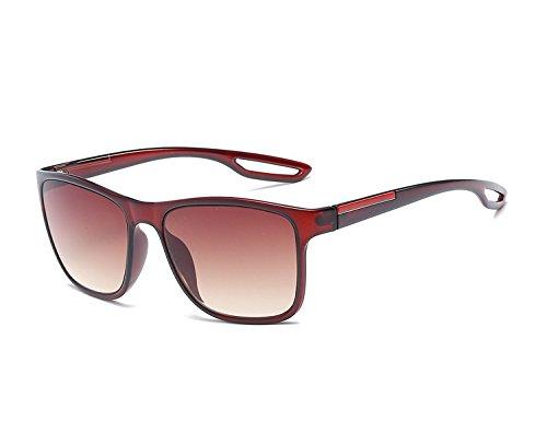 Femme Eyewear pour UV400 Unisex Carré Protection 02 avec Homme Mode Bmeigo Classique soleil Lunettes Brown pour Lunettes de xICwq4F