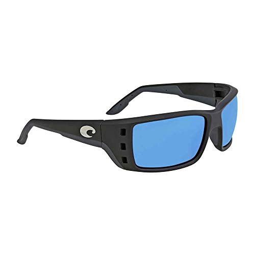 Costa Del Mar Permit Polarized Iridium Wrap Sunglasses, Matte Black, 61.5 ()