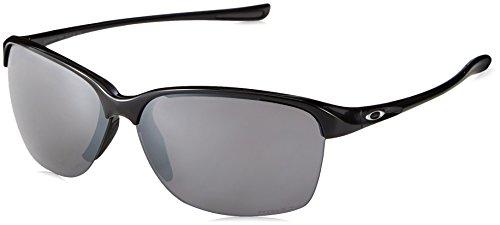 Oakley Women's Unstoppable Rectangular Sunglasses, POLISHED BLACK, 65 mm (Oakleys Womens Sunglasses)