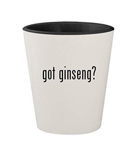 got ginseng? - Ceramic White Outer & Black Inner 1.5oz Shot Glass