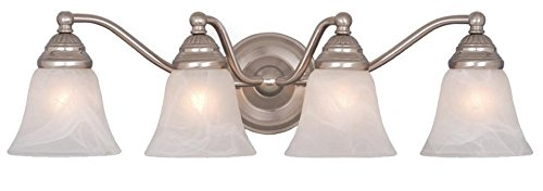 Vaxcel Four Light Bathroom Light VL35124BN Four Light Bathroom (Standford 4 Light)
