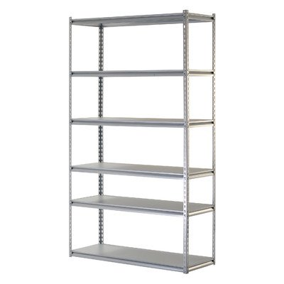 Boltless Rivet 84'' H Six Shelf Shelving Unit