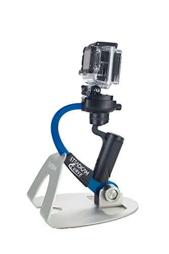 Steadicam CURVE-BK Handheld Video Stabilizer and grip for GoPro Hero Cameras 3, 4 Black & Hero 5 (Blue)