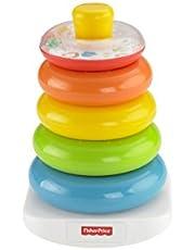 Fisher-Price FHC92 - Farbring Pyramide bunter Stapelturm Baby Spielzeug und Lernspielzeug zum Sortieren und Stapeln, Babyausstattung ab 6 Monaten