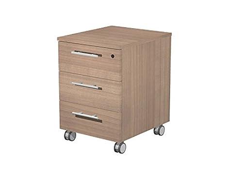 Cassettiera in legno su ruote eco a 3 cassetti cm. 41 8x52x61 5h