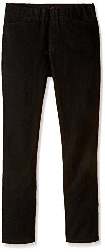 Chic Classic Collection Women's Easy Fit Elastic Waist Pull On Pant, Black Denim, 14 Petite