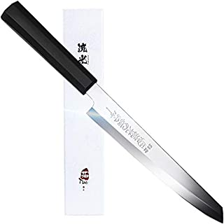 "TUO Sashimi Sushi Knife 8.25"" - Japanese Fish filleting Knife - High Carbon Stainless Steel - Slicing Carving Knife Right Handed Single-bevel(Tanto) - Meteor Series"