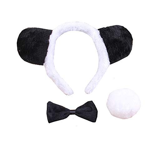 3PCS Animals Cute Headband Party Costume, Ear with Tail Tie -